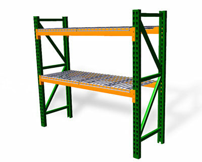 Pallet Rack Starter Kit With Wire Deck - Teardrop - 48d X 96w X 96h