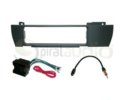 BMW X3 2004-2010 Radio Stereo Dash Kit Combo SD + Wire Harness + Antennna BW28