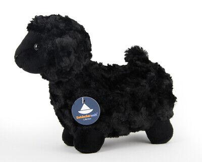 Stofftier schwarzes Schaf, Lamm, Lämmchen, Kuscheltier, Plüschtier, (L. 22 cm) ()