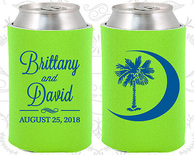 Neon Green Wedding Koozies Lime Koozie Favors Gift Ideas Decorations Gifts - Neon Decoration Ideas