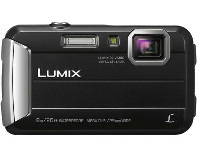 PANASONIC Lumix DMC-FT30EG-D Digitalkamera Schwarz, 16.1 Megapixel