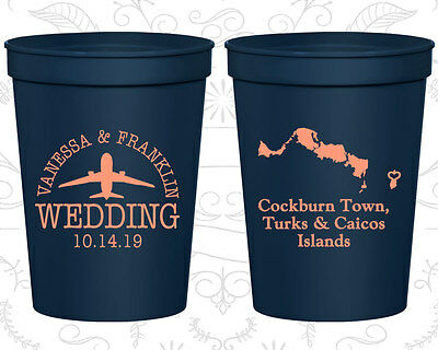 Personalized Cheap Wedding Cups Custom Cup (198) Turks And Caicos Wedding Favors