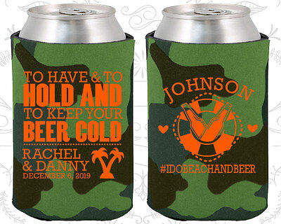 Personalized Wedding Coozies Custom Coozie (441) Cruise Wedding Favors (Personalized Coozies)