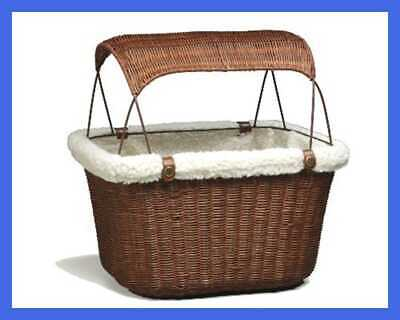 Petsafe Tagalong Wicker Bicycle Basket Dog Carrier For Bikes Best Dogs Up To 13