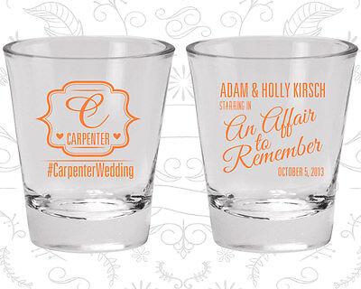 Wedding Shot Glasses Personalized Shot Glass (595) - Monogrammed Shot Glasses