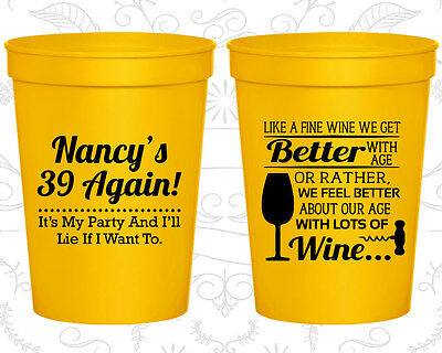 Personalized 40th Birthday Favors (Personalized 40th Birthday Favor Cups Custom Cup (20154) 39 Again)
