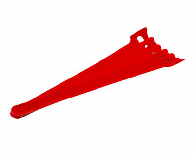 8 Inch Hook And Loop Reusable Strap Cable Cord Wire Ties 25 Pack Red