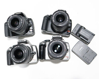 Lof of Canon Rebel XTI and XT DSLR Camera with EF-S 18-55mm lens
