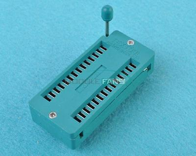28-pin 28 Pins Zif Test Dil Ics Universal Ic Socket Insertion Wide Body Socket M