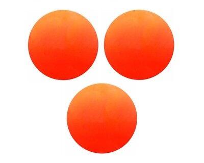 Champion Soft, Safe Indoor / Outdoor Street Floor Hockey Balls, 3 PACK, Orange