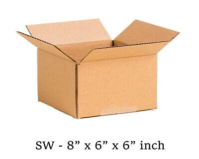 50x SMALL MAILING PACKING CARDBOARD BOXES 8x6x6