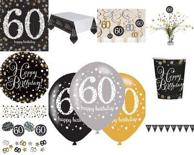 60. Geburtstag Dekoration mit der Zahl 60 Deko runder Geburtstag Party Tischdeko