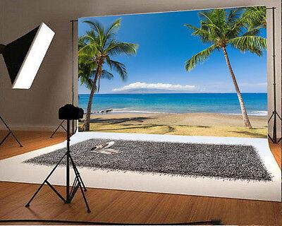 Summer Sea Beach 7x5ft Photography Backdrop Studio Vinyl Photo Background Props
