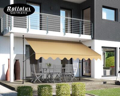 Rollolux Markise Balkonmarkise Klemmmarkise Garten Balkon 250-400 cm ohne Bohren
