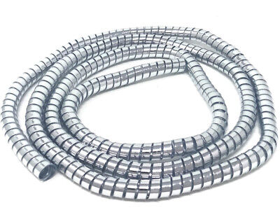 MOTORBIKE TRIKE CABLE COVER CUSTOM CHROME THICK SPIRAL WIRE WRAP 10MM