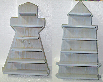 2 Lenox Wood Lighthouse Display Shelves Made in USA