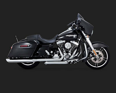 Vance & Hines Chrome Dresser Duals Head Pipes for '09-'16 Harley