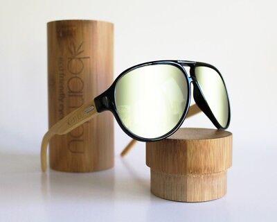 Handmade Bamboo Eco Friendly Sunglasses - Rick Ross Style Bamboo (Rick Ross Shades)