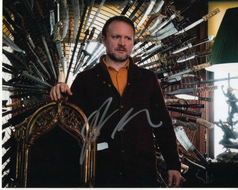 RIAN JOHNSON SIGNED AUTOGRAPH 8X10 PHOTO - KNIVES OUT, STAR WARS THE LAST JEDI