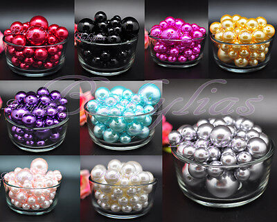 Pearl Vase Fillers (Vase Filler Pearls Beads Pebbles Wedding Decorative Centerpieces Plastic Balls)