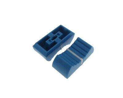 Knob Cap For 4mm Shaft Slide Pot Potentiometer 23x11mm - Blue - Pack Of 5