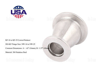 Usa Sale Conical Reducer Kf-25 To Kf-16 Flange Stainless Steel Vacuum Adapter