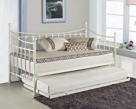 Versailles Metal Single Day Bed With Trundle Only £80 Collection ONLY