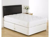 == LIMITED OFFER == Free Delivery New Double Divan Bed with SEMI Orthopaedic Mattress Only £89