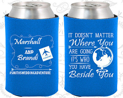 Personalized Wedding Coozies Custom Coozie (481) Destinaton Wedding Favors (Wedding Coozies)