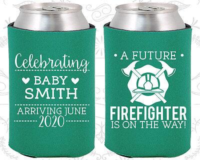 Baby Shower Ideas Boys (Baby Shower Koozies Koozie Ideas (90048) Fire Fighter, Blue Baby)