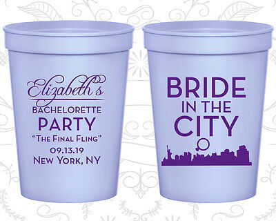 Bachelorette Party Cups Cup Favor (60162) Bride In The City, The Final Fling](Bachelorette Party Party City)