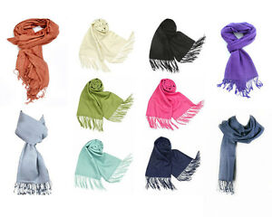 Plain-Pashmina-Scarf-Shawl-Stole-Wrap-High-Quality-Many-Colours-100-Viscose-UK