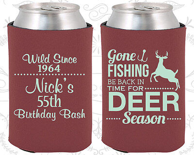 Personalized 55th Birthday Party Ideas Coozies (20128) Hunting Birthday, Deer](Personalized Wedding Favor Ideas)