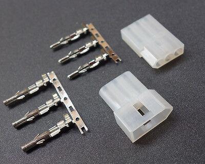 5 Pairs 3p 3 Pin Way .093 Pins Molex Receptacle Socket Connector Crimp Plug