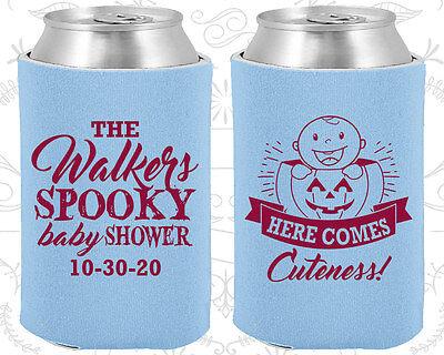 Baby Shower Koozies Koozie Supplies (90089) Halloween, Spooky, Pumpkin