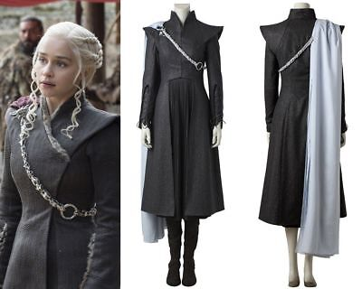 Top Grade Game of Thrones 7 Daenerys Targaryen Cosplay Costume with - Daenerys Kostüm Top