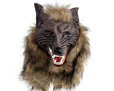 Latex Scary Wolf Mask Werewolf Head Cosplay Costumes Props Halloween Masquerade - Scary Wolf Costume