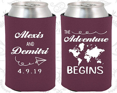 Wedding Favor Coozies Cheap Beer Can Coozie Idea (276) Travel Wedding Favors (Wedding Coozies)