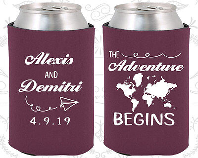 Wedding Favor Coozies Cheap Beer Can Coozie Idea (276) Travel Wedding Favors