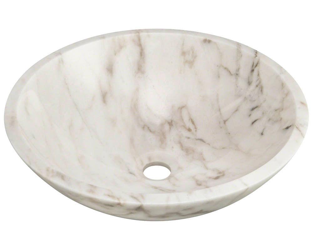 Vessel Wash Basin Sink 400 X 400 X 150 MM Basin Sink Gold White Color Bathroom Vanity Bowl InArt Modern Round Shape Above Counter Ceramic Basin