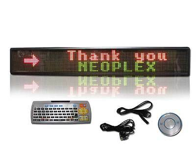 6 X 40 Programmable Scrolling 3 Color 2 Line Remote Led Message Window Sign