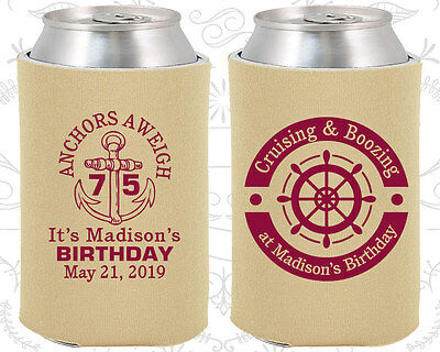 Nautical Birthday Party Ideas (Personalized 75th Birthday Party Ideas Coozies (20178) Anchor Birthday,)