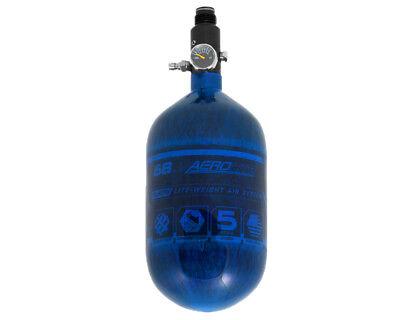 (HK Army Aerolite 68/4500 Carbon Fiber Paintball HPA Air Tank Blue)
