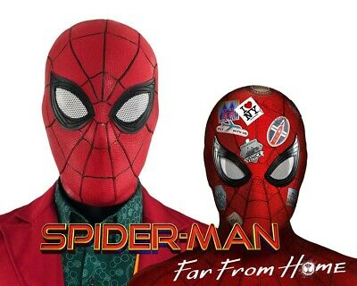 US! Spider Man Far From Home Latex Mask Peter Parker Helmet Halloween Costume - Peter Parker Halloween Costume