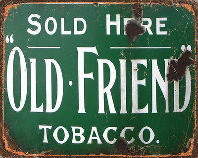 Old Friend Sold Here VINTAGE ADVERTISING ENAMEL METAL TIN SIGN WALL PLAQUE