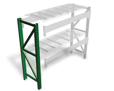 Teardrop Pallet Rack Upright - 120h X 42w - 30000 Lb. Capacity
