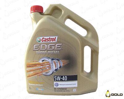 5W 40 Castrol Edge TURBO DIESEL 5 Liter Motoröl VW, Mercedes