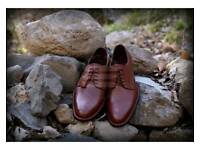 DARK TAN DESIGNER ITALIAN SMART SHOES