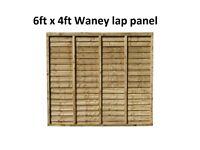 6ft x 4ft Overlap Waney Panels Pack of 10!