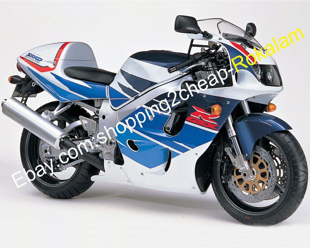 For Blue White Fairing Set SRAD GSXR600 GSXR750 1996 1997 1998 1999 GSXR 600 750 Aftermarket Kit Motorbike Fairings